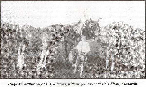 Hugh McArthur (13), Kilmory with prizewinners at 1931 Show, Kilmartin