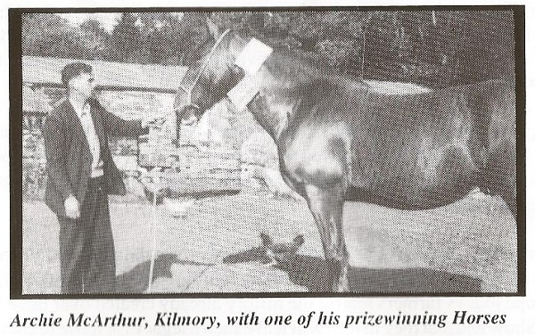 Archie McArthur, Kilmory, with one of his prizewinning Horses