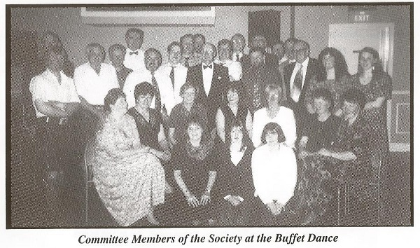 Committee Members of the Society at the Buffet Dance.
