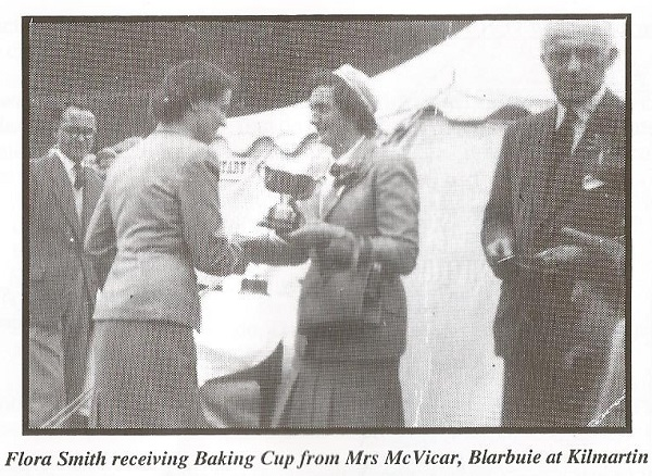 Flora Smith receiving Baking Cup from Mrs McVicar, Blarbuie at Kilmartin